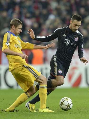 Bayern Munich, sin usar a varios titulares, goleó al BATE Borisov 4-1, con lo que cierra como primero de grupo F en la primera fase de la Champions League.