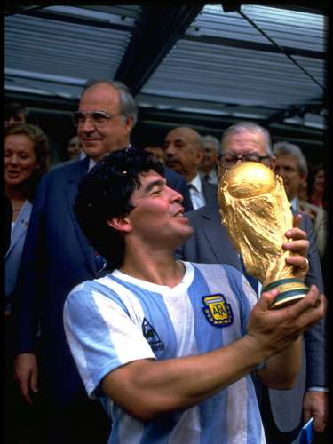 Diego Armando Maradona saltó a la fama con Argentina en el Mundial de México 1986.