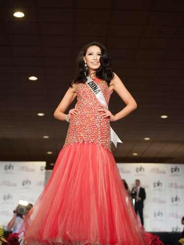 Miss China -Diana Xu. Procedente de Shangai nació en 1990. Mide 1.80 metros de estatura, su cabello es negro y sus ojos son color marrón.