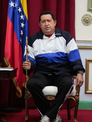 Chavez pumped a fist in the air as he set off for the latest chapter of a tumultuous rule that has seen a brief coup against him, waves of industry nationalizations, a crippling oil strike and heightened acrimony with the United States.