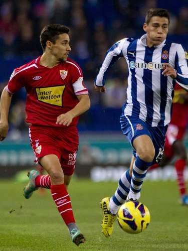 Héctor Moreno cumplió su suspensión y regresó a la titularidad en el duelo en el que Sevilla le robó la igualada (2-2) en casa del Espanyol