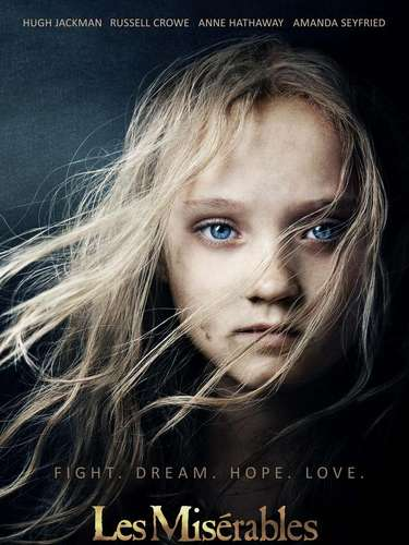La revista 'Entertainment 'Weekly' eligió los 25 mejores posters de películas del año. El primer lugar lo ocupa el poster de la película 'Les Misérables'