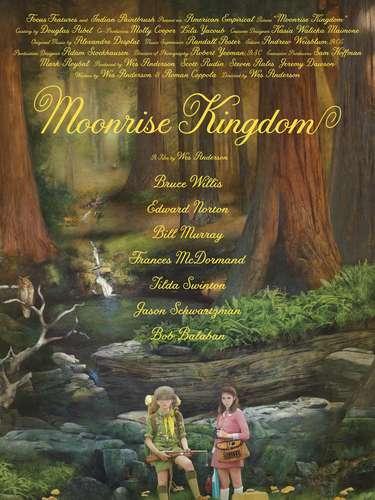 12.Moonrise Kingdom. Tal como si fuera la portada de un libro clásico, el poster de la película es encantador