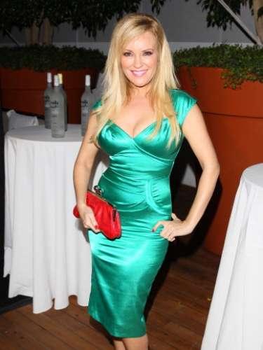 Bridget Marquardt optó por llevar este tono en un vestido metalizado. ¿Qué opinan?