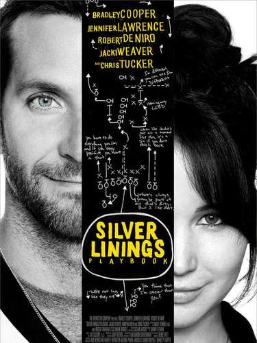16.Silver Linings Playbook. Este poster fue elegido entre los mejores porque a simple vista te invita a que te detengas y pongas atención en cada de talle que en él se encuentran