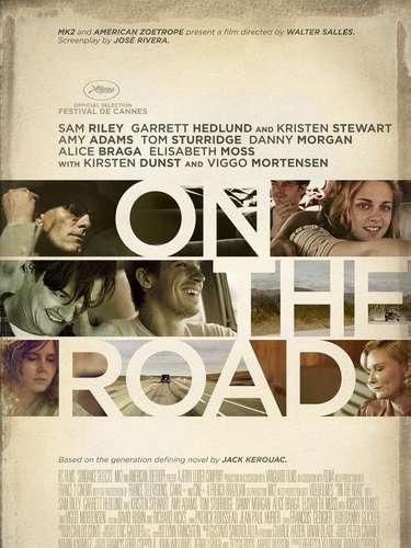 25. On the road. Plasmado con varias imágenes de la película, este poster muestra al grandioso elenco de la cinta.