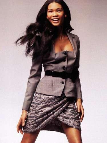 #26 Chanel Iman Siguiendo los pasos de Tyra Banks y Naomi Campbell, la modelo está explotando su encanto personal en las pasarelas.