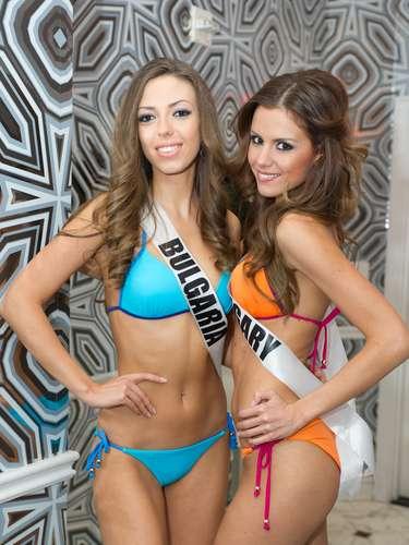 Huesuditas: Miss Universo BulgariaZhana Yaneva y Miss Universo Hungría Agnes Konkoly
