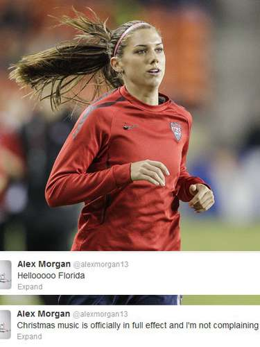 Alex Morgan is in a good mood this holiday season. Of course she is, she's in Florida!