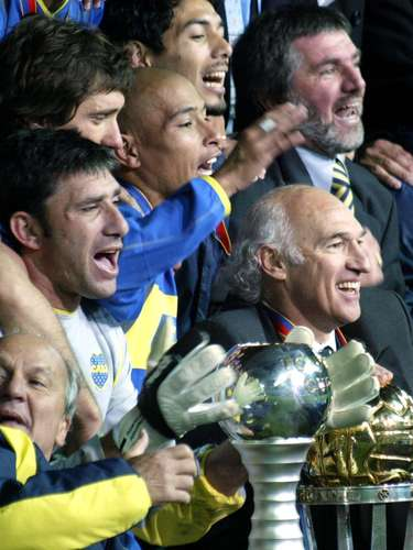 El festejo de Boca en Japón tras derrotar por penales al equipo rossonero
