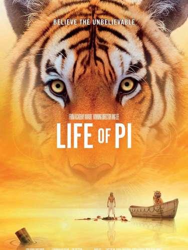 Life of Pi, nominada comoMejor Película Dramática.