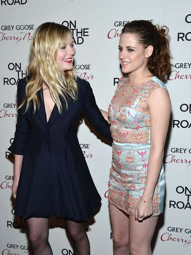 The two girls were ravishing at theOn The Road premiere.