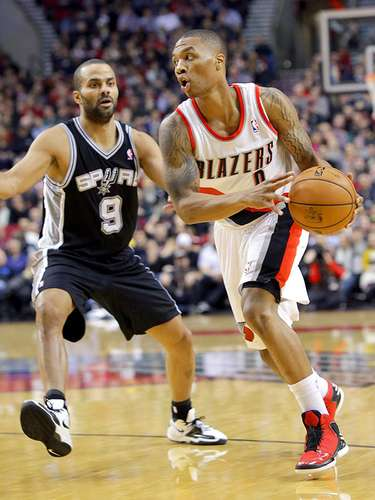 Spurs vs. Trail Blazers: Damian Lillard intenta superar la marca de Tony Parker.