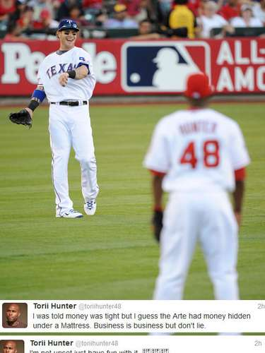Torii Hunter says he's not bitter, but we can't help thinking he might be a little bit sour after reading his tweets regarding the signing of Josh Hamilton by the Angels. Earlier, they passed on giving him an extension.