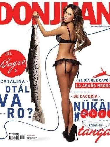 Una de las gemelas, Catalina Otalvaro protagoniza la portada de la revista DonJuan.