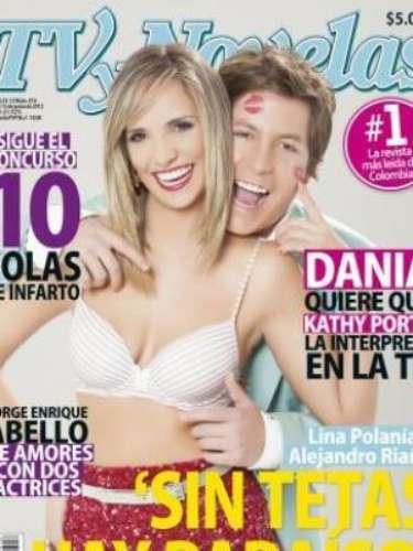 Lina Polania luego de retirarse sus implantes mamarios decidio lucir su busto al natural para la revista Tv y Novelas.