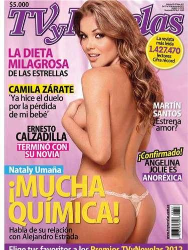 Nataly Umaña posa para revista Tv y Novelas.