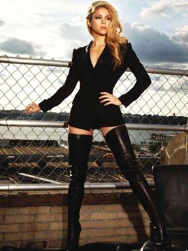 Shakira sabe como atraer las miradas con sus movimientos de caderas.