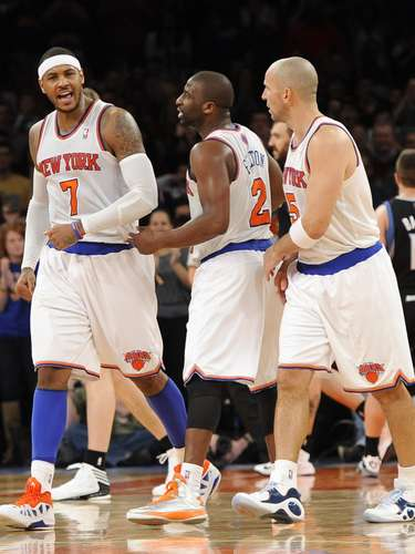 El argentino Pablo Prigioni jugó cuatro minutos por los Knicks y terminó con tres puntos y una asistencia.