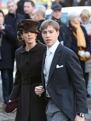 El príncipe Félix, junto a su prometida, Claire Lademacher.