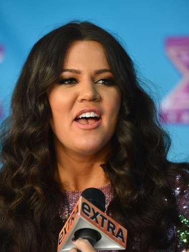 Khloe Kardashian también expresó su felicidad, \