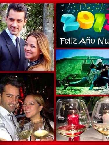 Adamari López compartió este collage para desearle un feliz 2013 a todos sus seguidores y, de paso, demostrar que su romance con el bailarín Tony Costa sigue viento en popa.