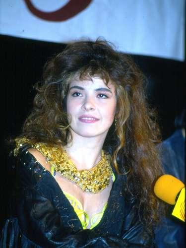 Gloria Trevi durante la presentación de su disco \