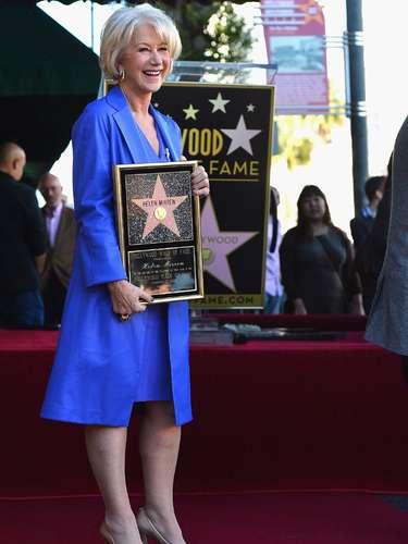 El 3 de enero del 2013 la actriz Helen Mirren, ganadora del Oscar a Mejor Actriz en 2007 por su interpretación de Isabel II en el filme 'La Reina',recibió por fin su estrella en el Paseo de la Fama de Hollywood.