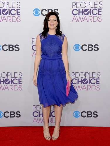 BEST: Casey Wilson of Happy Endings showed no fear of color in this violet dress and stood out from the rest.