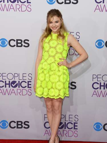 BEST: Chloe Moretz never fails to be on trend. The actress opted for a sunshine yellow daisy dress that's so bright you've got to wear wear shades.