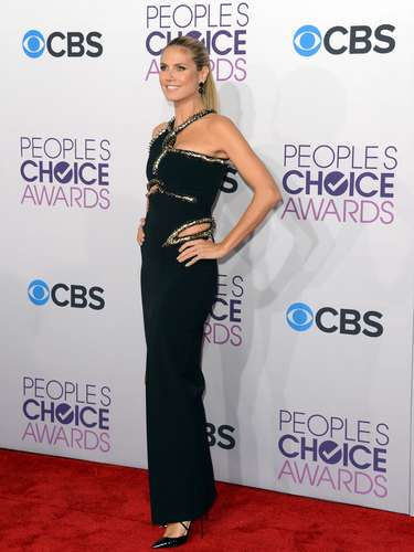 BEST: Heidi Klum looks good in everything, this dress was so exception.
