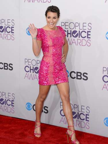 BEST: Forget pretty in pink, Lea Michele was scandalous in pink and she worked it well.