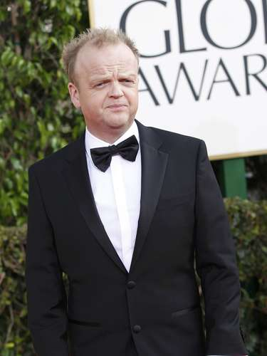 El actor Toby Jones a su llegada a los Golden Globes