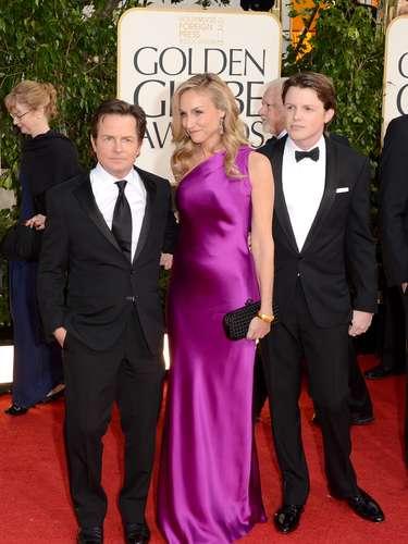 Michael J. Fox acompañado por su familia a la ceremonia de los Golden Globes