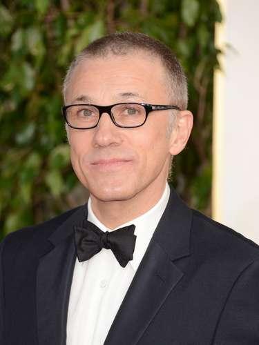 Con nuevo look llegó el actor Christoph Waltz a los Golden Globes