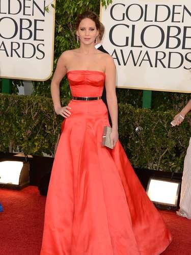 Jennifer Lawrence sin duda es y será de las más bellas de los Golden Globes 2013