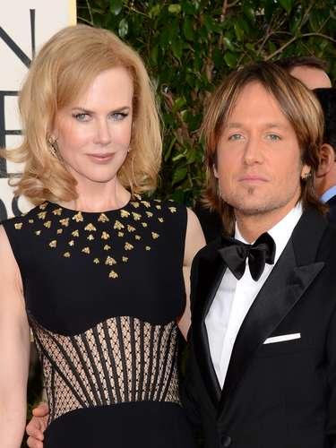 Nicole Kidman y su esposo, el cantante Keith Urban no podían perderse la premiación