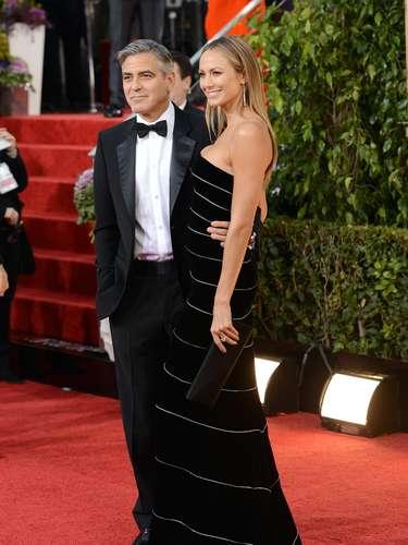 George Clooney y su novia Stacy Kiebler.
