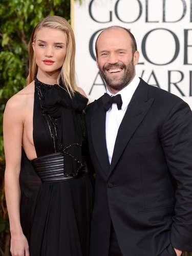 La estrella de acción Jason Statham y la bella actriz-modelo Rosie Huntington-Whiteley