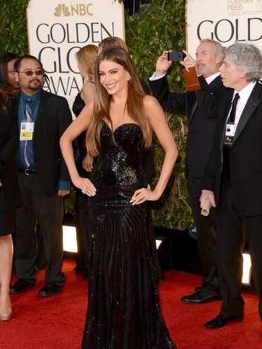 MEJOR: Sofia Vergara en los Golden Globes 2013.