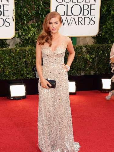 MEJOR: Isla Fisher mostró lo sexy que puede ser en los Golden Globes 2013.