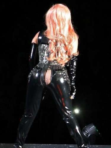 JANUARY 14 - Lady Gaga experiences a major wardrobe malfunction during concert at Rogers Arena in Vancouver, Canada on Friday. While performing \
