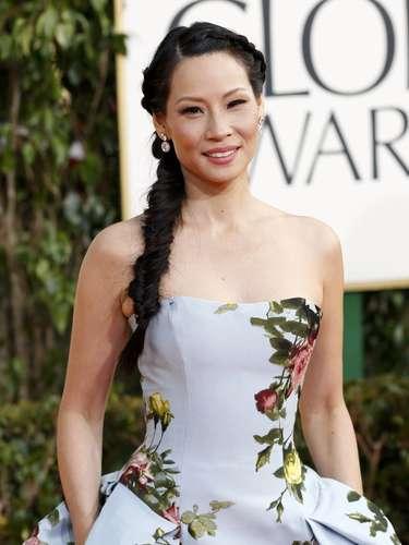 Lucy Liu en los Golden Globes