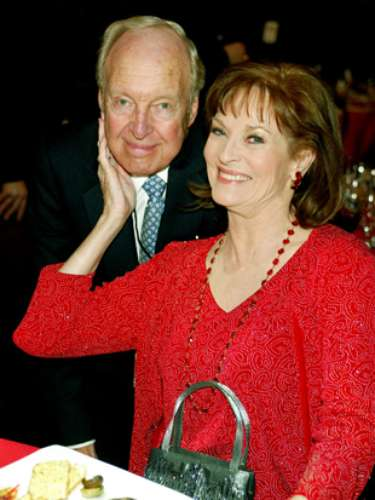 Conrad strikes a pose with actress Lee Meriwether at the Hollywood Palladium during the 2003 TV Land Awards.