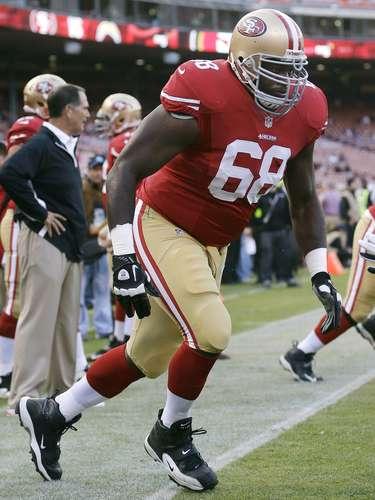 Leonard Davis (49ers): Un jugador de Pro Bowl en tres ocasiones, Davis pesa 161.025 kilos.