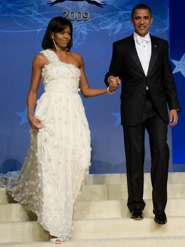 The First Lady needed a dress that was comfortable and able to let her move freely.