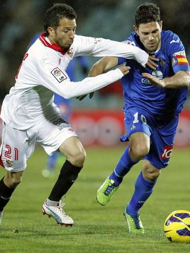 Getafe and Sevilla drew 1-1 at the Coliseum Alfonso Pérez.