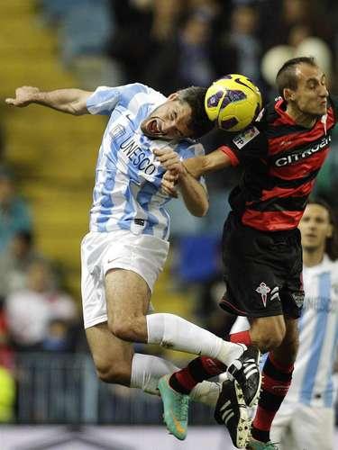 Málaga drew Celta 1-1.