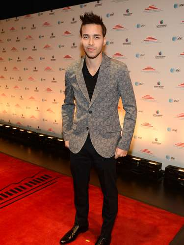 Bachata pop heartthrob Prince Royce arrives at Eva Longoria'sLatino Inaugural 2013 at The Kennedy Center on January 20 in Washington, DC.