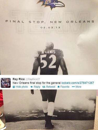 Teammate Ray Rice tweeted this poster of Ray Lewis' last game.